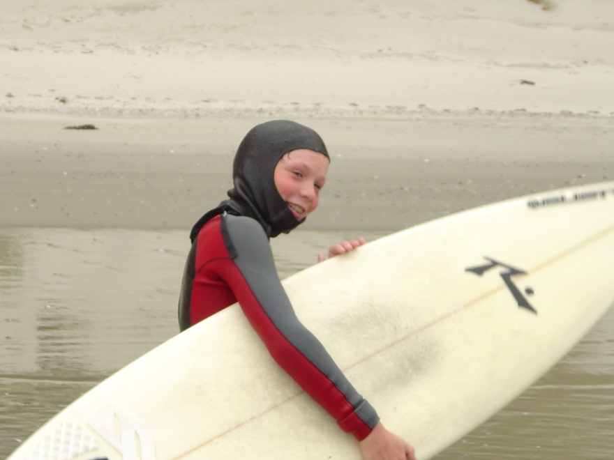 Leroy was just 10 when Erin first started at Hydro Surf