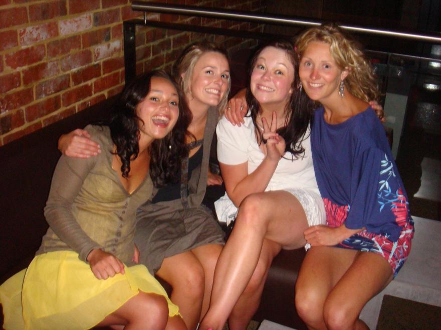 Erin, Jinny, Sarah and Alisa Xmas 07